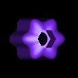 hexdriverhandle.stl Télécharger fichier STL gratuit Poignée hexagonale personnalisable • Objet pour impression 3D, arpruss