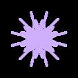 ParametricFlake.stl Télécharger fichier STL gratuit Flocon de neige courbe paramétrique • Plan pour imprimante 3D, arpruss