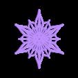 Bezier_flake_2.stl Télécharger fichier STL gratuit Flocon de neige Bézier personnalisable dans BlocksCAD • Plan pour impression 3D, arpruss