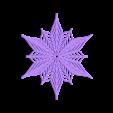 Bezier_flake.stl Télécharger fichier STL gratuit Flocon de neige Bézier personnalisable dans BlocksCAD • Plan pour impression 3D, arpruss