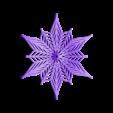Bezier-flake-3d.stl Télécharger fichier STL gratuit Flocon de neige Bézier personnalisable dans BlocksCAD • Plan pour impression 3D, arpruss