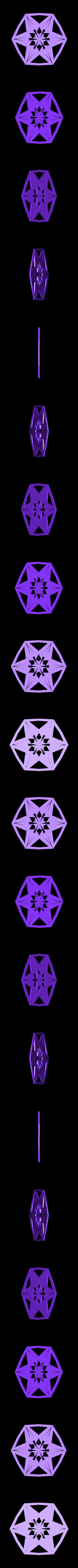 kiri2.stl Télécharger fichier STL gratuit Flocon de neige kirigami aléatoire dans BlocksCAD • Plan pour impression 3D, arpruss
