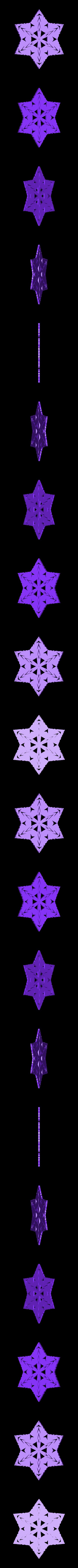 kiri6.stl Télécharger fichier STL gratuit Flocon de neige kirigami aléatoire dans BlocksCAD • Plan pour impression 3D, arpruss