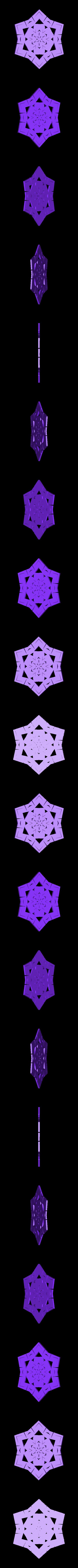 kiri8.stl Télécharger fichier STL gratuit Flocon de neige kirigami aléatoire dans BlocksCAD • Plan pour impression 3D, arpruss