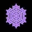 hex12.stl Télécharger fichier STL gratuit Automate cellulaire BlocsGénérateur de flocons de neige CAO • Design imprimable en 3D, arpruss