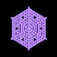 hex16.stl Télécharger fichier STL gratuit Automate cellulaire BlocsGénérateur de flocons de neige CAO • Design imprimable en 3D, arpruss