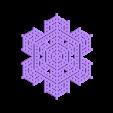 hex24.stl Télécharger fichier STL gratuit Automate cellulaire BlocsGénérateur de flocons de neige CAO • Design imprimable en 3D, arpruss
