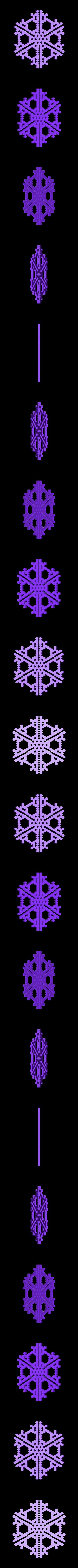 hex18-half.stl Télécharger fichier STL gratuit Automate cellulaire BlocsGénérateur de flocons de neige CAO • Design imprimable en 3D, arpruss