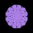 hex40-half.stl Télécharger fichier STL gratuit Automate cellulaire BlocsGénérateur de flocons de neige CAO • Design imprimable en 3D, arpruss