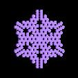 other-hex2.stl Télécharger fichier STL gratuit Automate cellulaire BlocsGénérateur de flocons de neige CAO • Design imprimable en 3D, arpruss