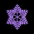 snowflake2.stl Télécharger fichier STL gratuit Flocon de neige fractal aléatoire dans les blocsCAD • Modèle pour imprimante 3D, arpruss