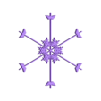 snowflake10.stl Télécharger fichier STL gratuit Flocon de neige fractal aléatoire dans les blocsCAD • Modèle pour imprimante 3D, arpruss