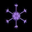 snowflake10.stl Download free STL file Random fractal snowflake in BlocksCAD • 3D printer model, arpruss