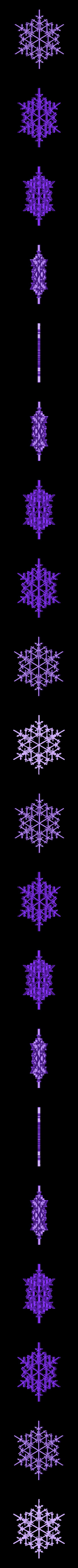snowflake8.stl Download free STL file Random fractal snowflake in BlocksCAD • 3D printer model, arpruss