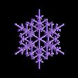 snowflake8.stl Télécharger fichier STL gratuit Flocon de neige fractal aléatoire dans les blocsCAD • Modèle pour imprimante 3D, arpruss