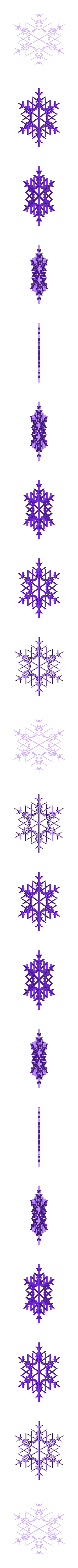 snowflake11.stl Télécharger fichier STL gratuit Flocon de neige fractal aléatoire dans les blocsCAD • Modèle pour imprimante 3D, arpruss