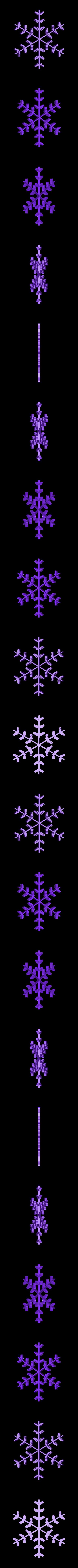 snowflake14.stl Télécharger fichier STL gratuit Flocon de neige fractal aléatoire dans les blocsCAD • Modèle pour imprimante 3D, arpruss