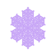 cellularsnowflake.stl Download free STL file Cellular automaton snowflake generator in OpenSCAD • 3D printer model, arpruss