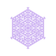 joined.stl Download free STL file Cellular automaton snowflake generator in OpenSCAD • 3D printer model, arpruss