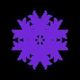 leafy_snowflake.stl Télécharger fichier STL gratuit Flocon de neige feuillue en blocsCAD • Plan à imprimer en 3D, arpruss