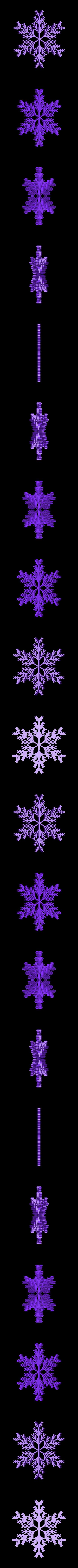 recursive_snowflake_2.stl Télécharger fichier STL gratuit Flocon de neige récursif dans BlocksCAD • Plan pour impression 3D, arpruss
