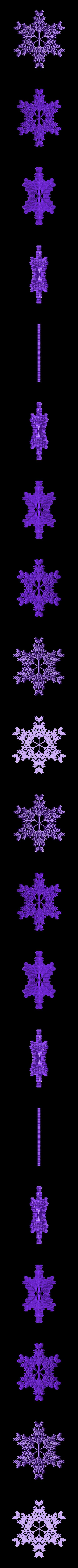 recursive_snowflake_3.stl Télécharger fichier STL gratuit Flocon de neige récursif dans BlocksCAD • Plan pour impression 3D, arpruss