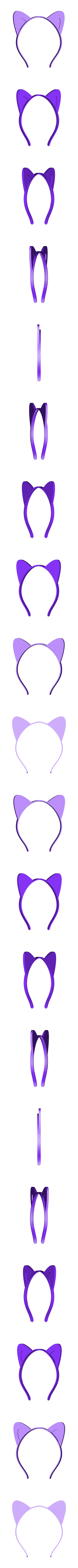 ears-pointed1.stl Download free STL file Animal ears headband, customizable • 3D printer design, arpruss