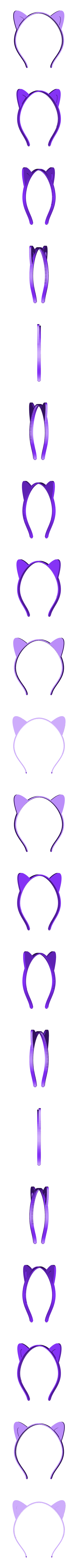ears-pointed-small.stl Download free STL file Animal ears headband, customizable • 3D printer design, arpruss