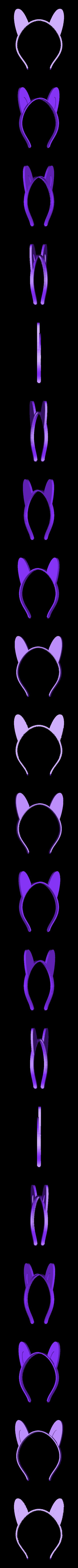 ears-long.stl Télécharger fichier STL gratuit Bandeau oreilles d'animaux, personnalisable • Plan à imprimer en 3D, arpruss