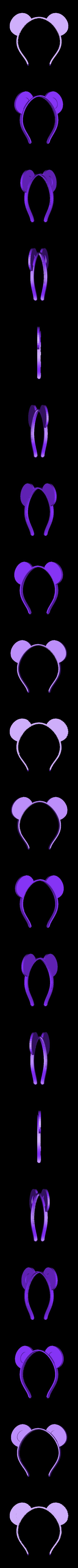 ears-wide.stl Télécharger fichier STL gratuit Bandeau oreilles d'animaux, personnalisable • Plan à imprimer en 3D, arpruss