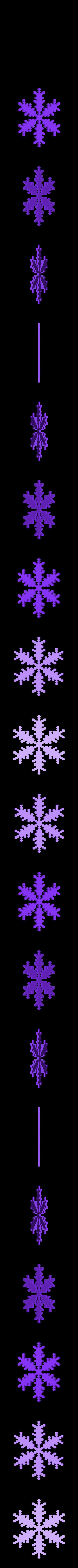 reiter20-1.6-0.7-0.002-30.stl Download free STL file Snowflake growth simulation in BlocksCAD • 3D printing design, arpruss