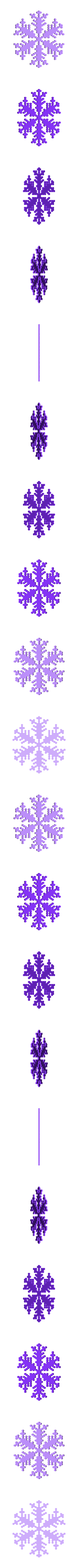 reiter20-1.6-0.7-0.002-50.stl Download free STL file Snowflake growth simulation in BlocksCAD • 3D printing design, arpruss