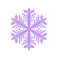 reiter40-1.6-0.7-0.002-120.stl Download free STL file Snowflake growth simulation in BlocksCAD • 3D printing design, arpruss