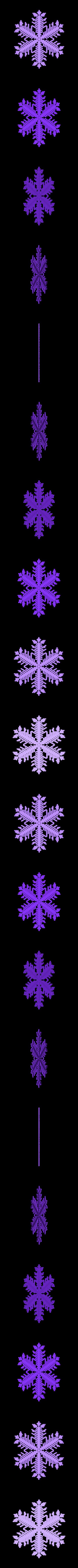 reiter40-1.6-0.7-0.002-80.stl Download free STL file Snowflake growth simulation in BlocksCAD • 3D printing design, arpruss