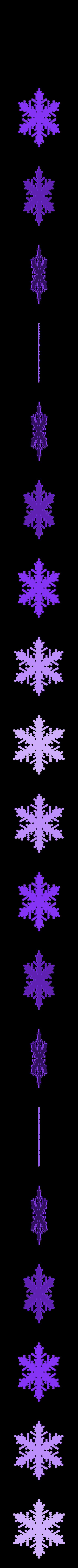 reiter30-0.5-0.7-0.003-150.stl Download free STL file Snowflake growth simulation in BlocksCAD • 3D printing design, arpruss
