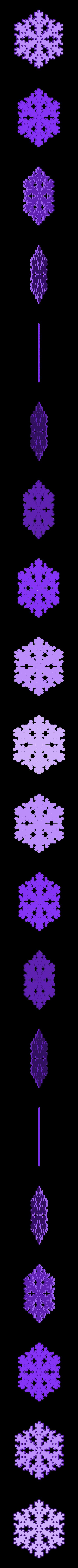reiter-var3.stl Download free STL file Snowflake growth simulation in BlocksCAD • 3D printing design, arpruss