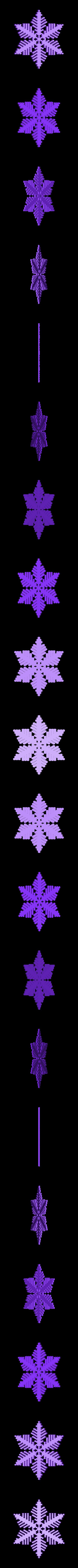 reiter-var6.stl Download free STL file Snowflake growth simulation in BlocksCAD • 3D printing design, arpruss