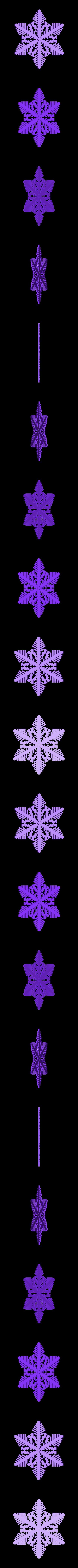 reiter40-var2.stl Download free STL file Snowflake growth simulation in BlocksCAD • 3D printing design, arpruss