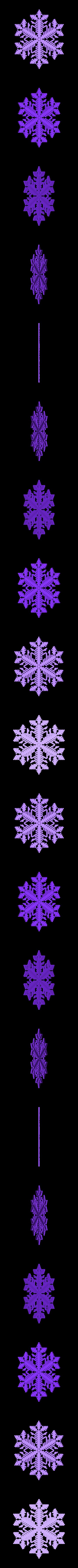 reiter40-var1.stl Download free STL file Snowflake growth simulation in BlocksCAD • 3D printing design, arpruss