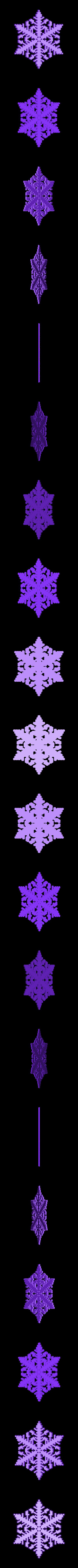 reiter40-var0.stl Download free STL file Snowflake growth simulation in BlocksCAD • 3D printing design, arpruss