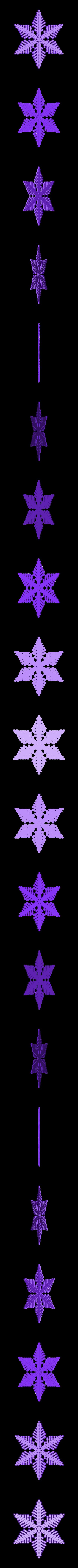 reiter40-3d.stl Download free STL file Snowflake growth simulation in BlocksCAD • 3D printing design, arpruss