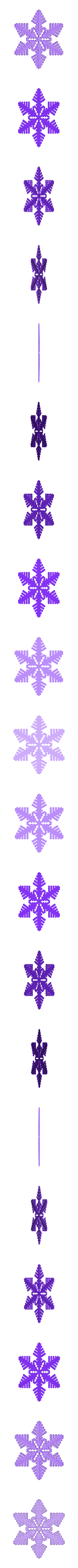 reiter30-3d.stl Download free STL file Snowflake growth simulation in BlocksCAD • 3D printing design, arpruss