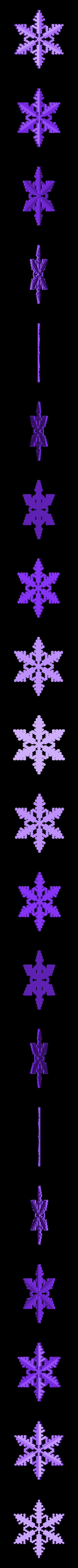 Reiter_20_ridged.stl Download free STL file Snowflake growth simulation in BlocksCAD • 3D printing design, arpruss