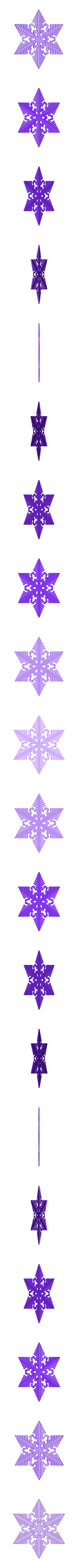 reiter40-ridged.stl Download free STL file Snowflake growth simulation in BlocksCAD • 3D printing design, arpruss