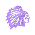 indian.stl Download STL file Indian man wall decoration • 3D printable model, 3dprintlines