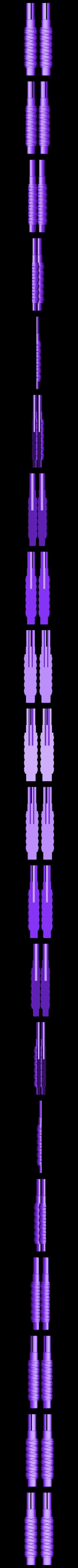 Gruffsbane_Handle_Halves_dowel_rod.stl Download free STL file Gruffsbane Sword • 3D printer design, mrhers2