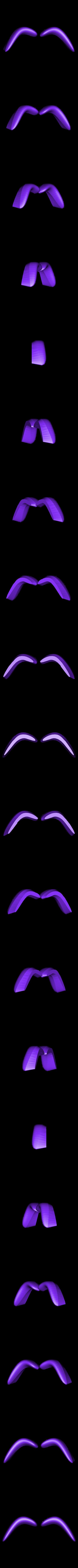 eye_brows.stl Télécharger fichier STL gratuit La Chenille • Modèle pour imprimante 3D, reddadsteve