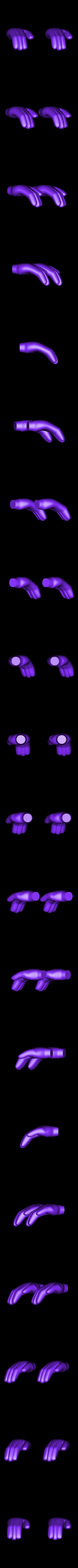 hands_right.stl Télécharger fichier STL gratuit La Chenille • Modèle pour imprimante 3D, reddadsteve