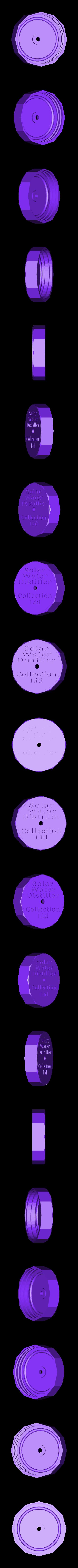 Mason_Jar_Water_Still_Collection_Cap.stl Download free STL file DIY Solar Water Still ( Survival Distiller ) Purifier • 3D printable template, SuperSteve