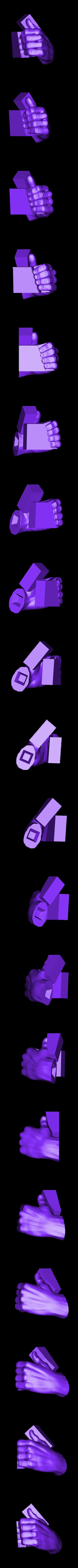 Hand_left.stl Download free STL file Bold Machines: Mr. Walthersnap • 3D print design, boldmachines